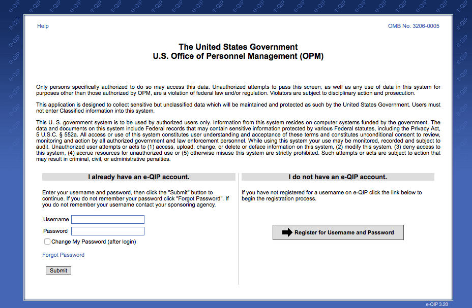 E-qip - OPM Investigations Process - www opm gov e qip