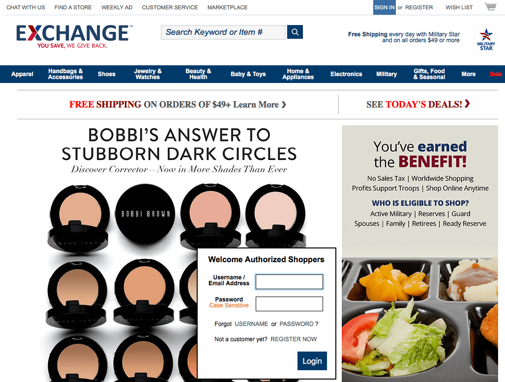AAFES Online Exchange